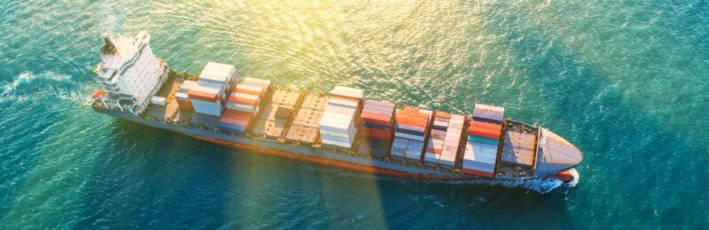Bird's Eye View Container Ship