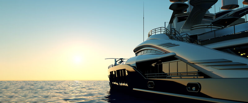 Yacht & Pleasure Craft Insurance - image of a super yacht at sea