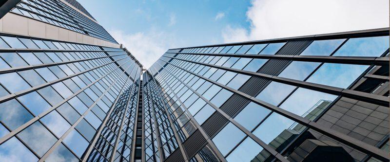 International Casualty Insurance - Blue Corporate Buildings