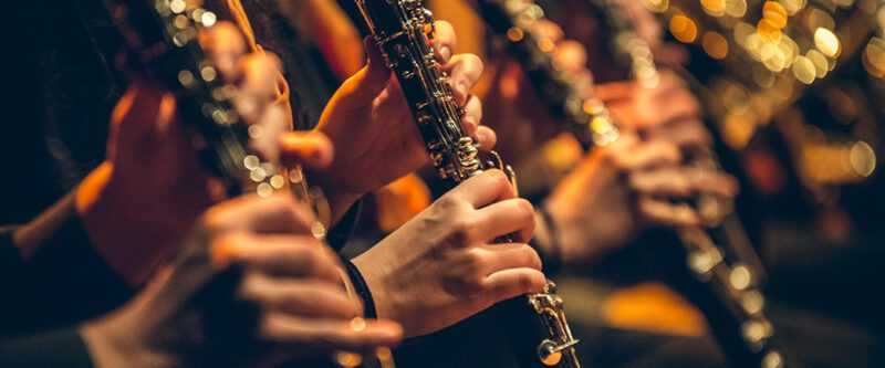 Musical Instrument Insurance - Clarinets in orchestra
