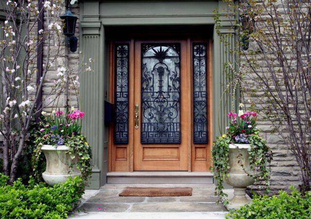 Homeowner's Insurance - Front door of luxury house